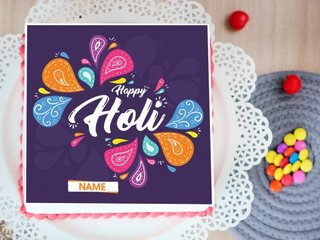 Colorful Holi Poster Cake