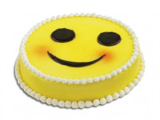 Toothsome Smiley Cake