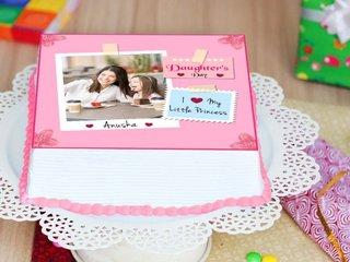 Daughters Day Photo Cake