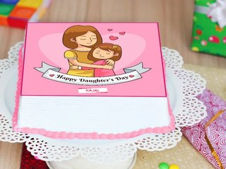 Happy Daughters Day Poster Cake