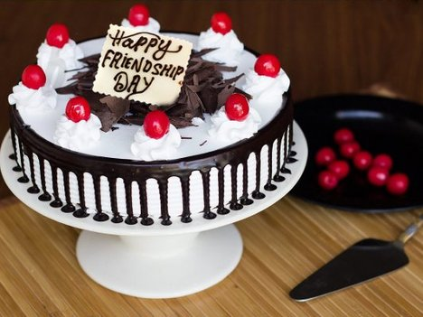 Black Forest Friendship Day Special Cake