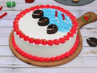 Diwali Butterscotch Cake