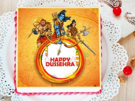 Poster Cake for Dussehra Festival