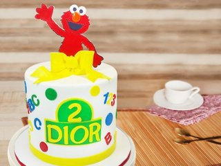 Sesame Street Fondant Cake For Kids