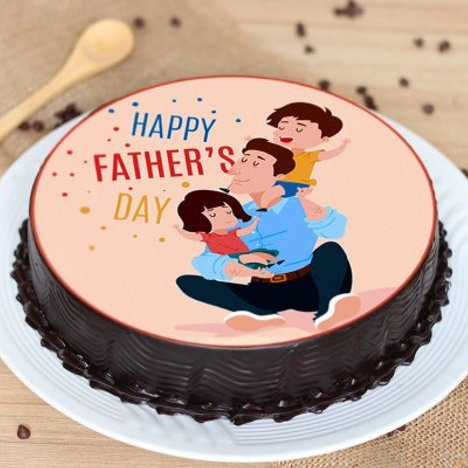 Happy Fathers Day Poster Cake