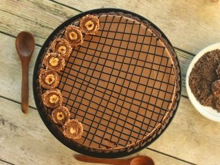 Top View of Dainty Rocher Cake in Gurgaon