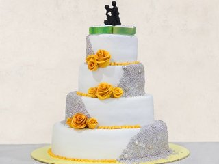 Flamboyant Affair - 4 Tier Fondant Cake