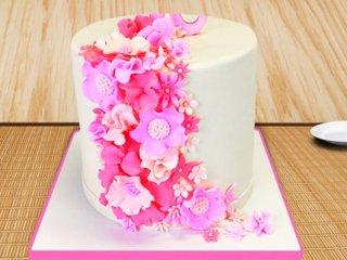 Illuminating Flower Cake