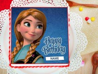 Princess Anna  Photo Cake For Girls