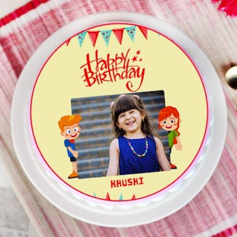 Babyhood Twist - Round Personalised Cake for Kids