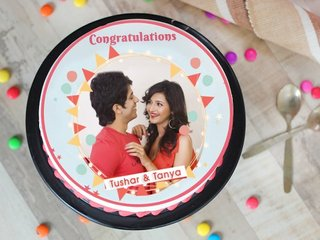 Order Happiness Bound Congratulations Photo Cake
