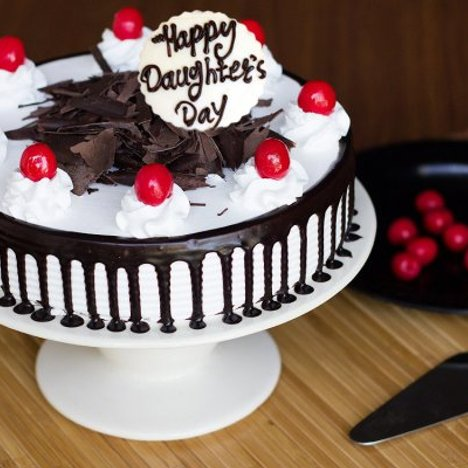 Happy Daughters Day Black Forest Cake