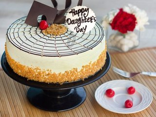 Happy Daughters Day Butterscotch Cake