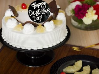 Happy Daughters Day Pineapple Cake