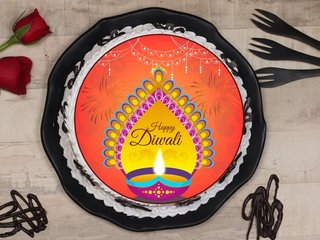 Happy Diwali Poster Cake
