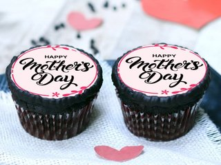 Happy Mothers Day Poster Cupcakes