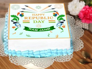 Happy Republic Day Poster Cake