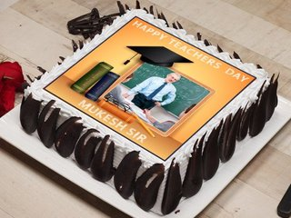 Happy Teachers Day Photo Cake