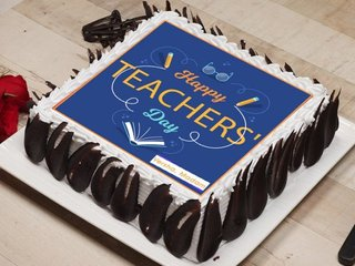 Happy Teachers Day Poster Cake