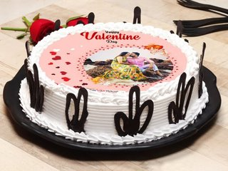 Happy Valentines Day Poster Cake