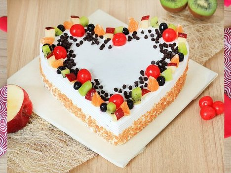 A Tutty-Fruity Tale - Heart Shaped Fruit Cake in Bangalore