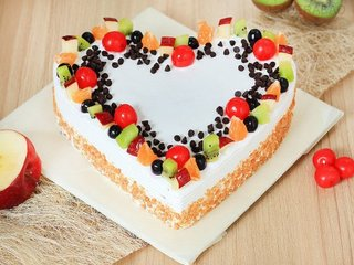 Send Heart Shaped Fruit Cake 1 in Hyderabad