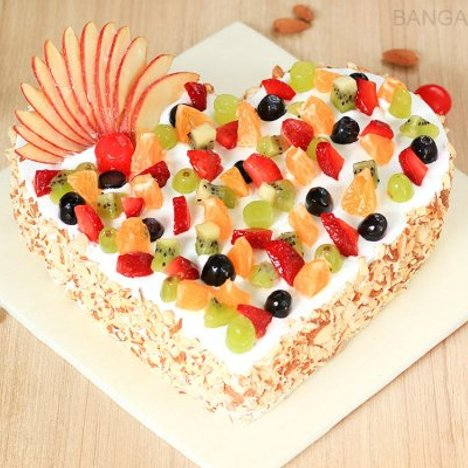 Heart Shaped Fruit Cake in Bangalore