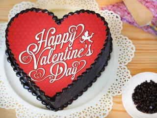 Heart Shaped Valentine Poster Cake