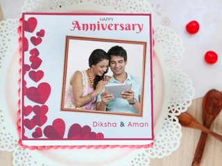 Imperfectly Perfect - Photo Cake for Anniversary Celebration