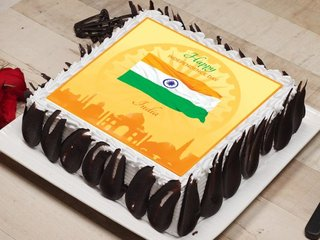 Happy Independence Day Poster Cake