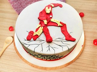 Iron Man Theme Cake