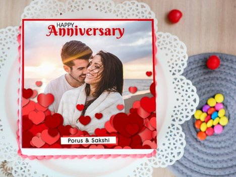 Irrevocably Yours - A Photo Cake for Wedding Anniversary