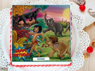 Jungle Book Birthday Photo Cake