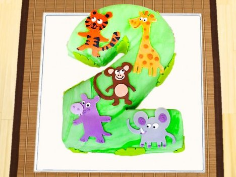 Jungle Theme Cake For 2 Year Old