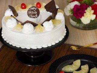 Karwa Chauth Pineapple Cake