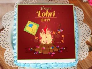 Lohri Poster Cake