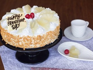 Hawaiian Pineapple Friendship Day Special Cake
