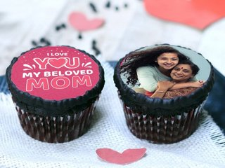 Love You Mom Personalised Cupcakes
