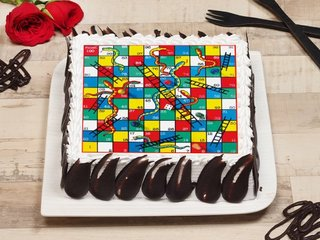 Square Shaped Ludo Cake