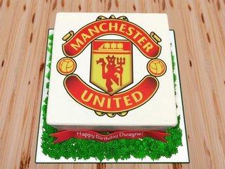 Manchester united fondant cake
