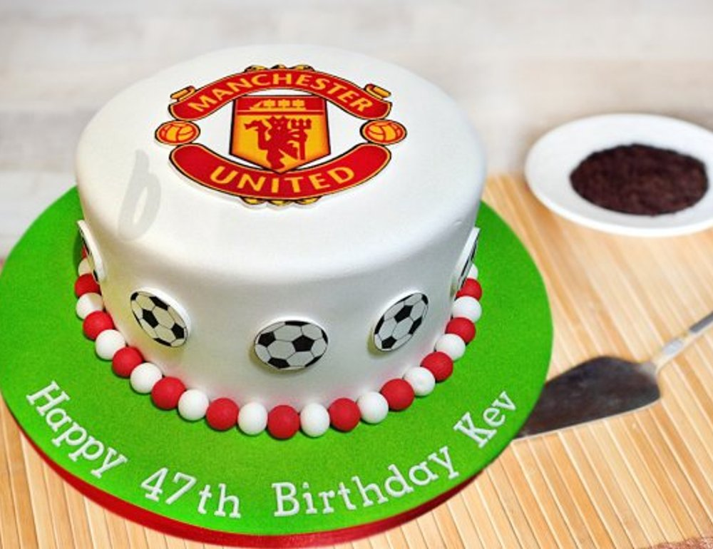 Buy Manchester United Theme Cake 1 Ticket To Man U