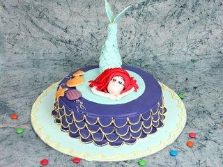 Multi flavored mermaid theme cake