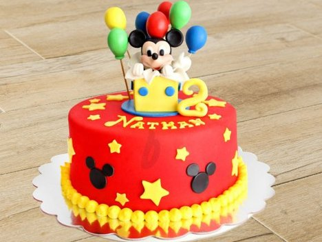 Mickey Mouse Birthday Cake For Little Child