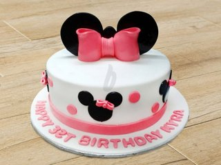 Minnie Theme Cake For Girl