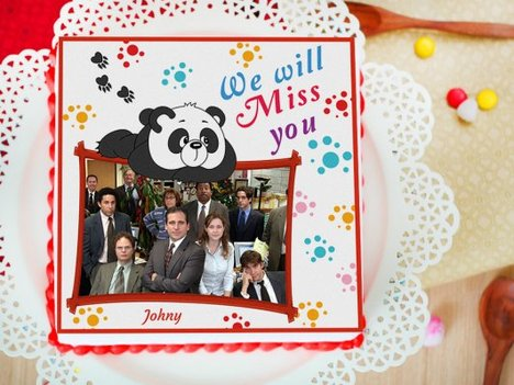 We Will Miss You Photo Cake