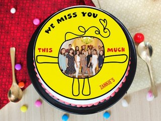 Kinda Very Much - Miss You Photo Cake
