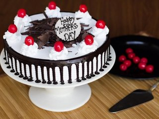 Black Forest Cake As Mothers Day Cake