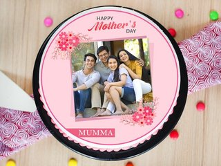 Mothers Day Photo Cake for Mom