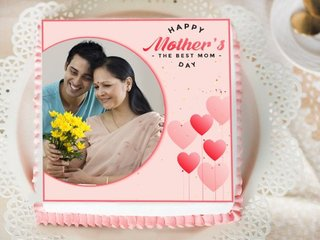 Mothers Day Photo Cake for Maa