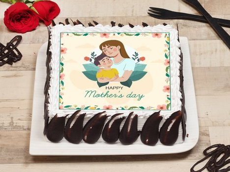 Mothers Day Poster Cake